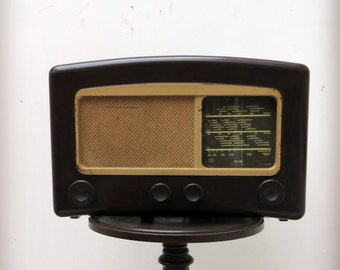 Vintage Bakelite Valve Radio 1940s Cossor 'Melody Maker'