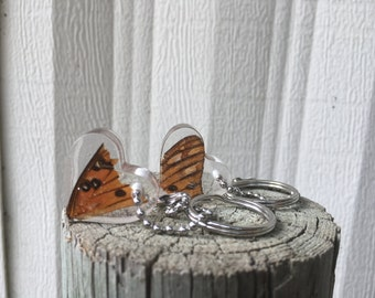 Butterfly Wing Heart Keychains - Best Friends BFF Keychains