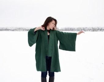 Womens linen kimono, linen kimono jacket, CollectionWN