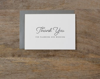 Thank you for Planning our Wedding - Card for Wedding Planner - Wedding Planner Card, Wedding Thank You Cards, Wedding Organizer Card, K1