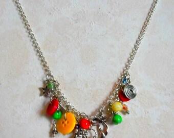Art Pendant Charm Necklace