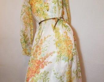 FREE  SHIPPING      1950  Organza  Flora  Dress