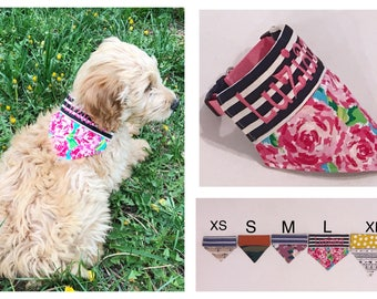 PROMOTION/ 2 FOR 20/ Personalized Dog Bandana/ Dog Collar/ Trendy Dog/ No Droop/ Handmade