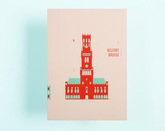 Postcards Bruges ( 4 different postcards)