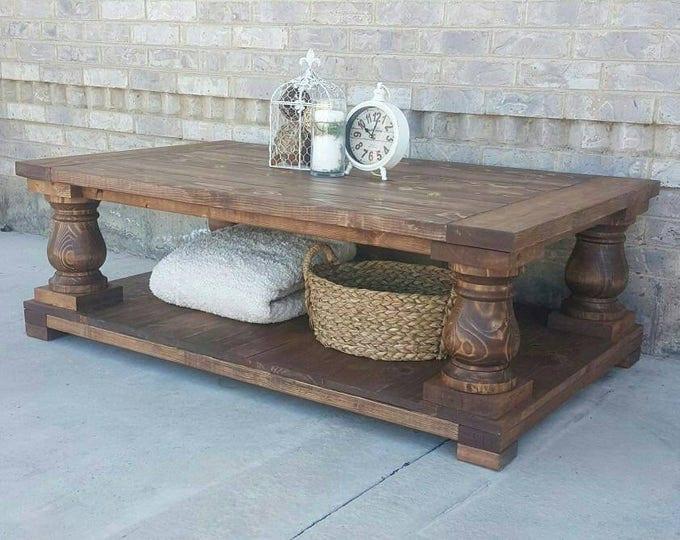 Long Balustrade Coffee Table - Coffee Table
