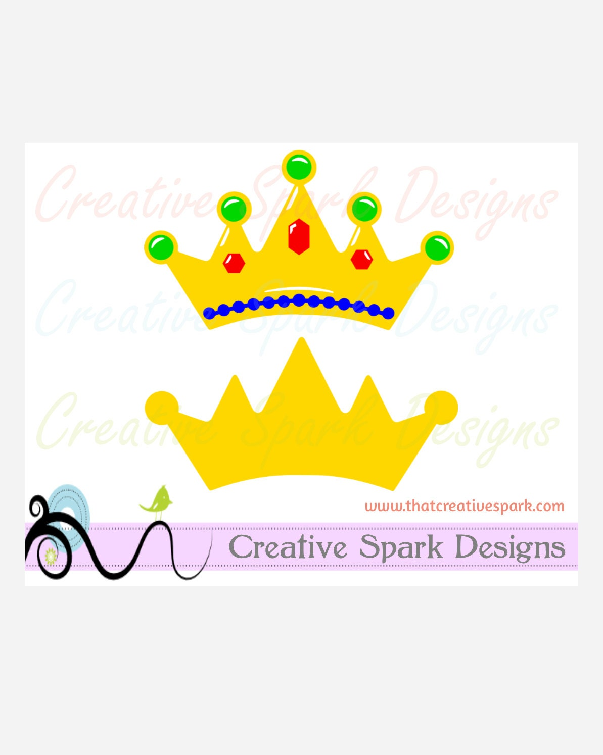 Jeweled Crown Layered digital SVG Image Set for die cutting, vinyl ...