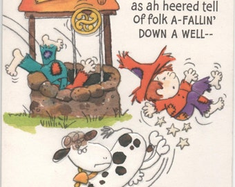 Very Funny Get Well Card, c1980s, Used, About Yore Accident. . ., good shape