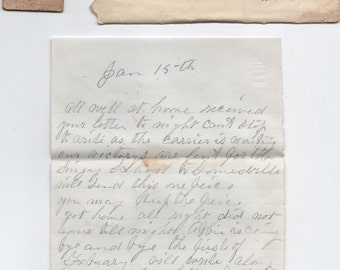 Correspondence to Miss Emma Wood, Surry, Maine, late 1870s - early 1880s, fair shape