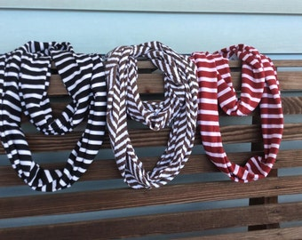 Monogrammed Infinity Scarves, Monogrammed Scarf, Infinity scarf, Monograms, Womens Fashion, Womens Scarves, Personalized Gifts