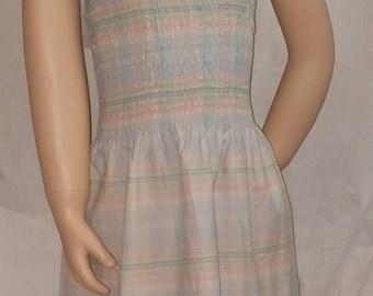 Pastel plaid summer dress.