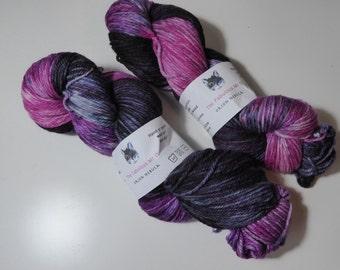Orion Nebula, Hand dyed yarn, Sock yarn, Merino, DK, 100gm