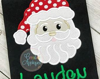 Santa Applique Digital Machine Embroidery Design 4 Sizes, santa applique, santa embroidery, applique santa