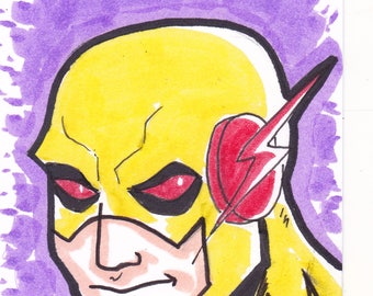 """Reverse Flash ACEO trading card2 1/2"""" x 3 1/2"""""""