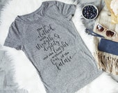 Christian Women's Tshirt - Proverbs 31 Gray Tee for Her