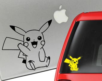 Pikachu Pokemon Vinyl Decal for Laptop or Car