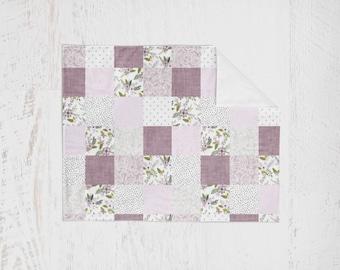 Organic Swaddle Blanket Lavender Purple Floral. Lightweight Baby Blanket. Receiving Blanket. Baby Swaddle. Floral Swaddle. Nursing Cover.