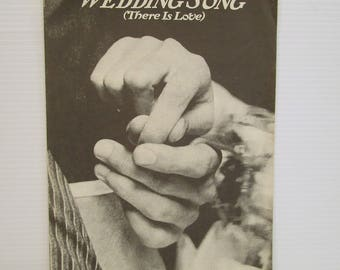WEDDING SONG Sheet music, Vintage piano music, There is Love sheet music, vintage sheet music, wedding music, wedding shower gift, ephemera
