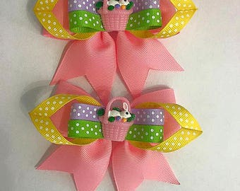 Easter Hair Clips - Handmade by me.