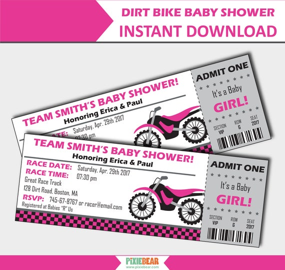 Motocross baby shower invitation motorcycle baby shower invitation il570xn filmwisefo