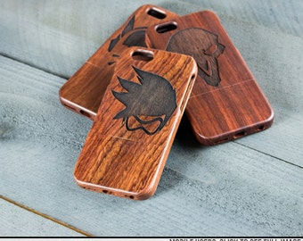 Engraved Wood iPhone Case - Overwatch Tracer, Reaper, Dva and more character icons - New! Ana and Sombra