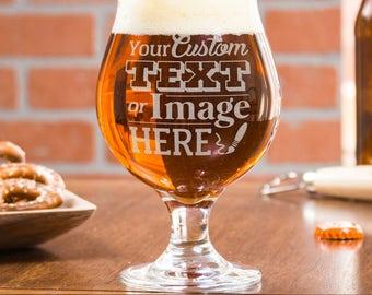 Beer Gift, Beer Glass, Gift For Men, College Student Gift, Boyfriend Gift, Custom Beer Glass, 21st Birthday Gift, Monogrammed Beer Glass