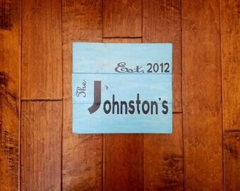 Last Name Established Sign - Last Name Gift - Last Name Wood Sign - Family Name Sign - Wedding Established Sign - Wedding Gift