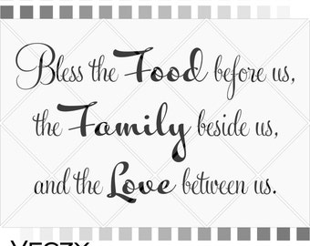 svg quotes, Bless The Food Before Us, Cricut Files, svg files sayings, cricut downloads, svg files for cricut, SV00063