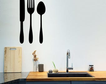 Spoon Stickers Etsy - Wall stickers for dining roomdining room wall decals wall decal knife spoon fork wall decal