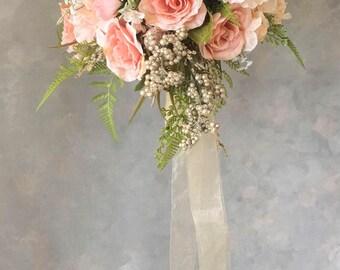 Two piece WEDDING FLOWERS bouquet blush