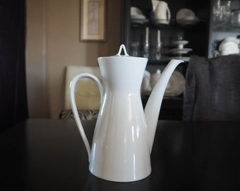 Rosenthal Germany Classic Modern White Coffee Pot Large