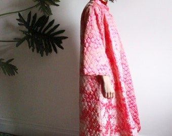 1940s Quilted Lounge Swing Coat