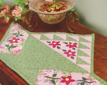 Handmade Quilt Flower Basket Table Topper