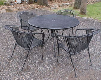 Superior Vintage Wrought Iron Patio Furniture Etsy