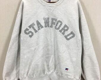 Vintage Stanford University Tri Blend Single V Crewneck Sweatshirt Sz L