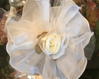 Almond favors, koufeta, mementos, Bomboniere, Wedding favors, Baptism, First Communion,Organza circle satin edge