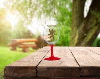 Harry Potter Gryffindor Wine Glass, Gryffindor Wine Glass, Harry Potter Glitter Wine Glass, Hogwarts Wine Glass, Harry Potter Mug, Hogwarts