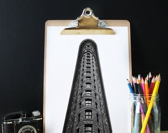 Photographie Flatiron building, New York, Black white, Manhattan, Architecture, Urban print, modern print, NYC poster, Flatiron poster