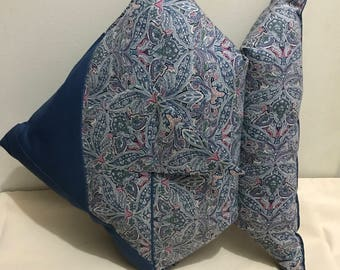Origami fish pillow- light blue