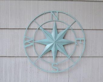 Metal Compass Rose. Metal Wall Art. Nautical Wall Art. Nautical Metal Decor. Nautical Decor. Wall Art. Wall Decor. Metal Wall Decor.