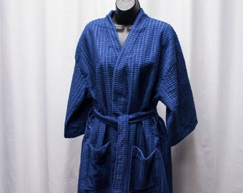 Waffle knit Bath Robe with Monogram or Greek Letters