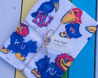 "Jayhawk Tea Towel - 22"" x 38"" - Kansas Love - Jayhawk Present"