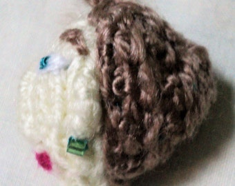 Knitted Doll Head Charm
