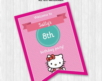 Hello Kitty Welcome Sign