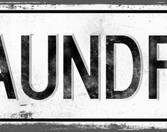 LAUNDRY Metal Street Sign, Vintage, Retro    MEM2015