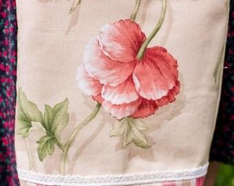 Vintage Poppy Print Shoulderbag/RTS