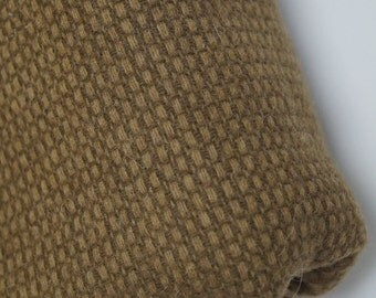 Brown Wool Blend Textured Upholstery Fabric - BY THE YARD