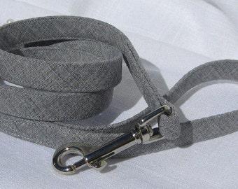 Ready to Ship~Light Grey Leash~Wedding Dog Leash~5/8 Inch Wide Leash~3 Feet in Length~Dog Wedding Leash~Dog Wedding Attire~Dog Ring Bearer