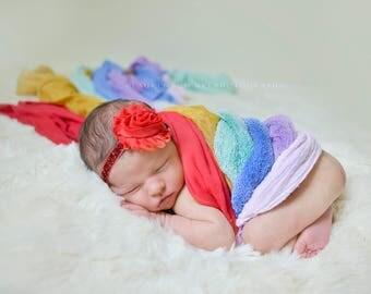 Red Baby Headband, Newborn Headband, Baby Headband, Red Headband, Baby Girl Headband, Baby Girl Bows and Headbands,  Newborn Girl, Baby Girl