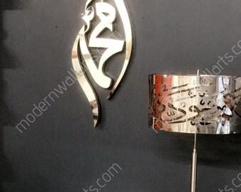 Stainless steel tear drop Mohammed diamond
