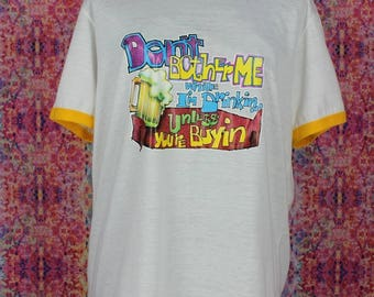 Don't Bother Me When I'm Drinking Funny Vintage T-Shirt